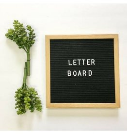 Aspen Lane Letter Board, Oak Frame/Black