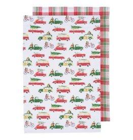 Now Designs Holiday Car Tea Towels, Set/2