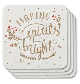 Now Designs Spirits Bright Coasters, Set/4