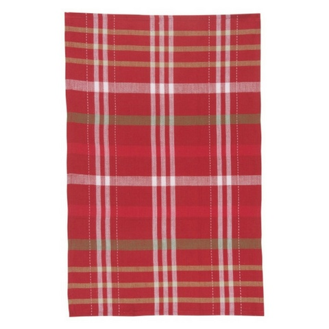 now designs holiday cheer check tea towels - Kitchen Towels New Design