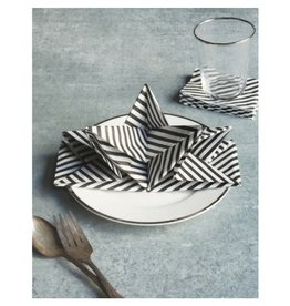 Now Designs Black & White Origami Napkins