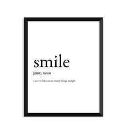 Footnotes Studio Art Print - Smile