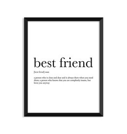 Footnotes Studio Art Print - Best Friend