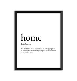 Footnotes Studio Art Print - Home