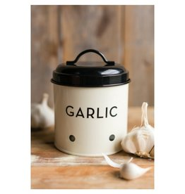 Now Designs Ivory Garlic Tin