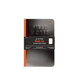 Field Notes Black Ice Memo Book, Pack/3