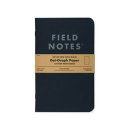 Field Notes Pitch Black Notebook, LG, Pack/2