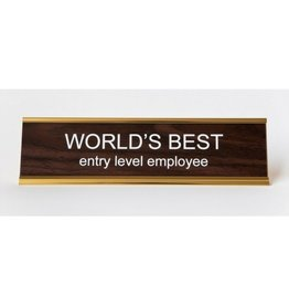 He Said She Said Name Plate - World's Best