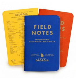 Field Notes Georgia Memo Book, Pack/3
