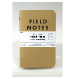 Field Notes Original Kraft Ruled, Pack/3