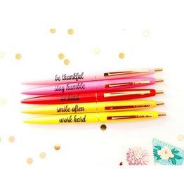 Taylor Elliott Be Kind, Stay Humble Pen Set