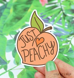 Turtle's soup Just Peachy Sticker