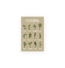 Homespun ATL Kitchen Herbs Art Poster