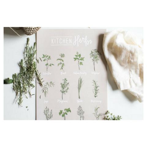 Homespun ATL Kitchen Herbs Art Poster