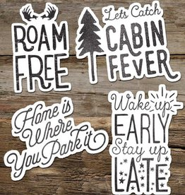 The Cabin Supply Co. Roam Free Vinyl Sticker