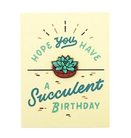 Valley Cruise Press Succulent Birthday Card & Pin