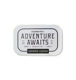 Sideshow Press Travel Candle Tin Lavender Leather