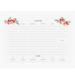 Pen + Pillar Red Poppy Meal Planner
