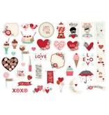 American Crafts Ephemera Valentine Cut Shapes