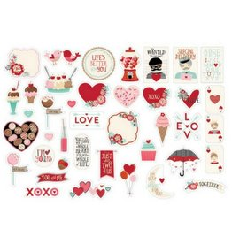 American Crafts Ephemera Valentine Cut Shapes
