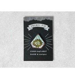 Favorite Story Terrarium w/ Succulents Enamel Pin