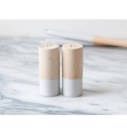 For The Host Wood Salt/Pepper Shakers Grey