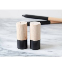 For The Host Wood Salt and Pepper Shakers BLK