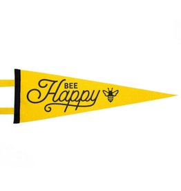 Seltzer Goods Bee Happy Pennant