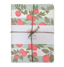 Hartland Brooklyn Fruit and Flowers Notebooks- 3 Pack