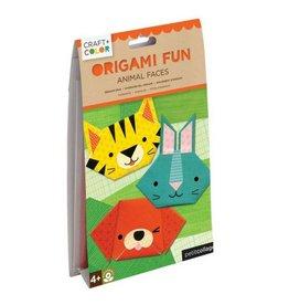 Petit Collage Animal Faces Origami