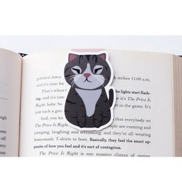 Crafted Van Squinting Grey Cat Jumbo Bookmark