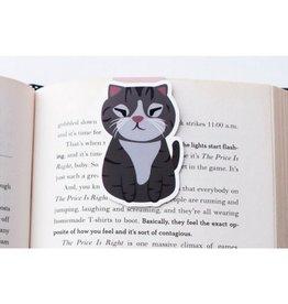 Crafted Van Squinting Grey Cat Jumbo Bookmark