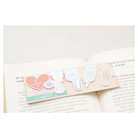 Crafted Van Nurse Mini Magnetic Bookmarks, 3pk