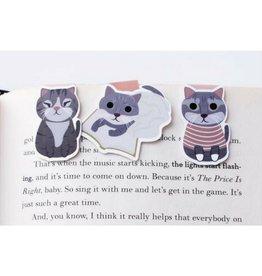 Crafted Van Grey Cats Mini Magnetic, 3pk