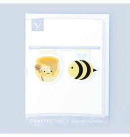 Crafted Van Bee & Honey Mini Magnetic Bookmarks