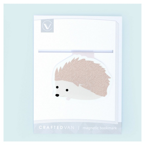 Crafted Van Hedgehog Jumbo Bookmark