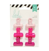 American Crafts Bulldog Clips - Pinks