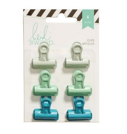 American Crafts Bulldog Clips - Greens