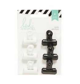 American Crafts Bulldog Clips - Blk/White