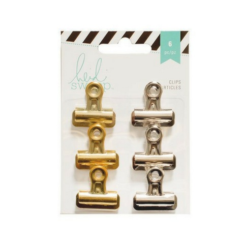 American Crafts Bulldog Clips - Slvr/Gold