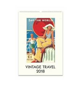 Cavallini Papers Vintage Travel Calendar 2018