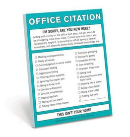 Knock Knock Nifty Notes: Office Citation