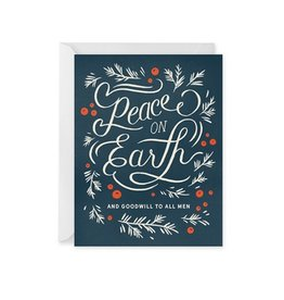 Paper Raven Co. Peace On Earth Card