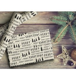 Two Pooch Paperie Merry Christmas Trees Wrap