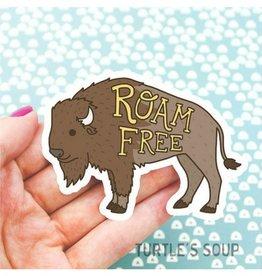 Turtle's soup Turtle - Roam Free Sticker
