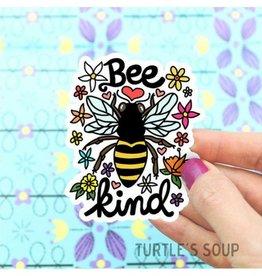 Turtle's soup Turtle - Bee Kind Sticker