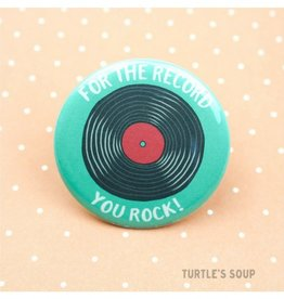 Turtle's soup Record Pin