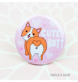 Turtle's soup Corgi Butt Pin