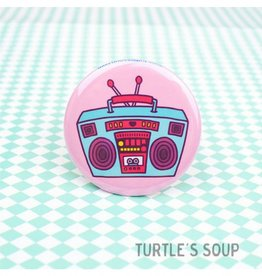 Turtle's soup Boombox Pin