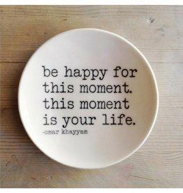 MB Art Studios MB - Be Happy Dish